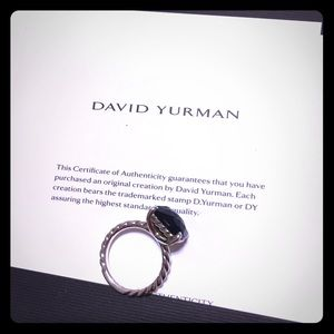 David Yurman Black Onyx Ring Size 7